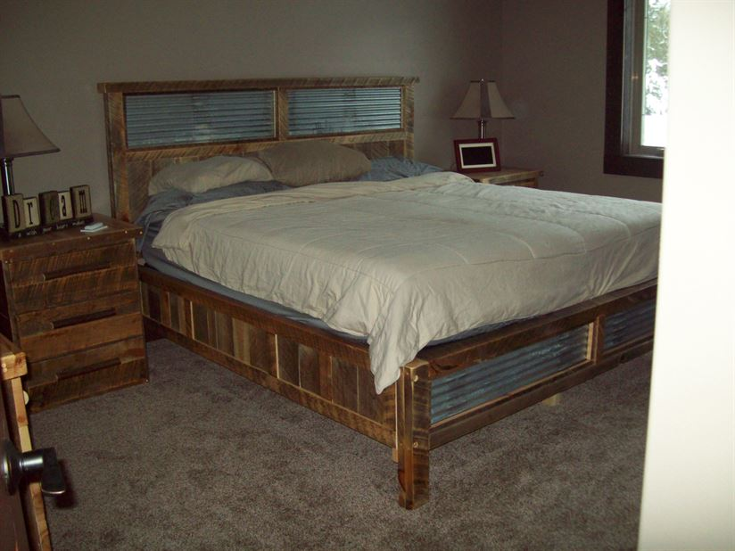 Bed with Tin Accents 2