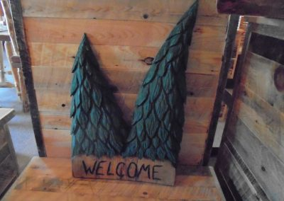 Pine Tree Welcome Sign